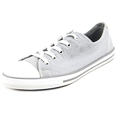 5ec7f45c6c51 Converse Womens Chuck Taylor Dainty Chambray Low Top Sneaker Dolphin Grey 6  M