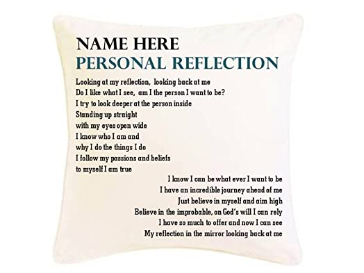 Personalised inspirational poem cushion gift personal reflection personalised inspirational poem cushion gift personal reflection suitable for any occasion birthday negle Gallery