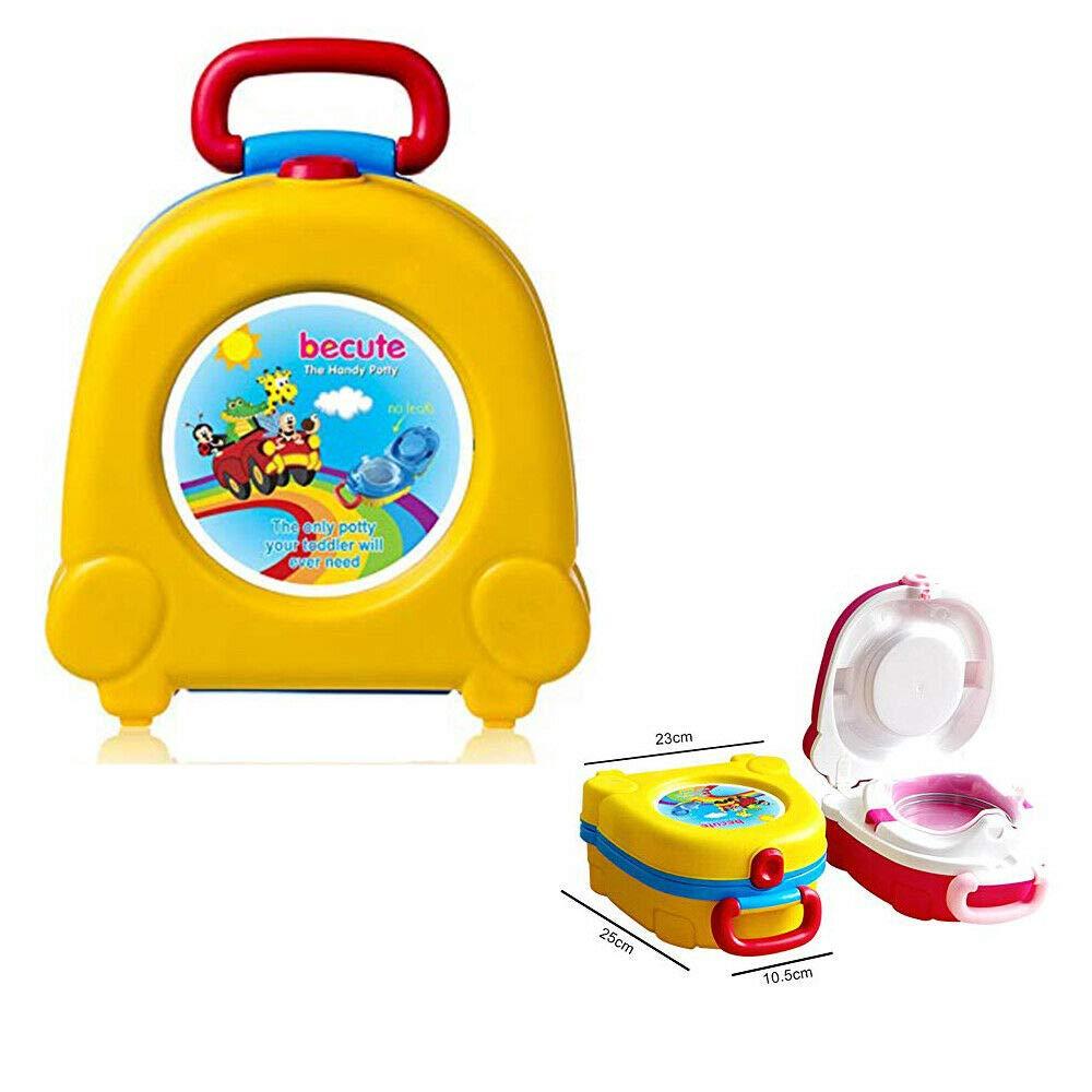 Orinal de viaje port/átil asiento de inodoro plegable amarillo asiento de inodoro de entrenamiento para beb/é inodoro de entrenamiento orinal