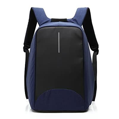 Anti-theft Business Laptop Backpack with USB Charging Port Fits to 15.6 Inch Computer Lightweight Water-resistant Knapsack (Blue)