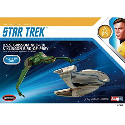 1/1000 Star Trek U.S.S. Grissom and Klingon Bird Of Prey Plastic Model Kit: Toys & Games