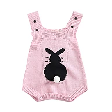 cb6888bc07c4 Amazon.com  Tronet Infant Newborn Romper Cartoon Rabbit Baby Boy ...