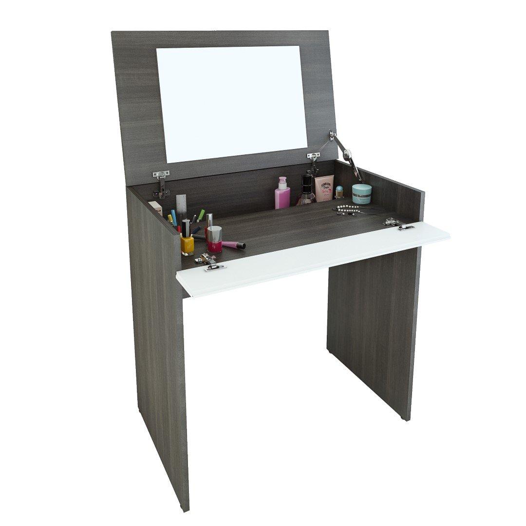 makeup vanity for small space. Amazon com  Nexera 221633 Allure Vanity Ebony and White Kitchen Dining