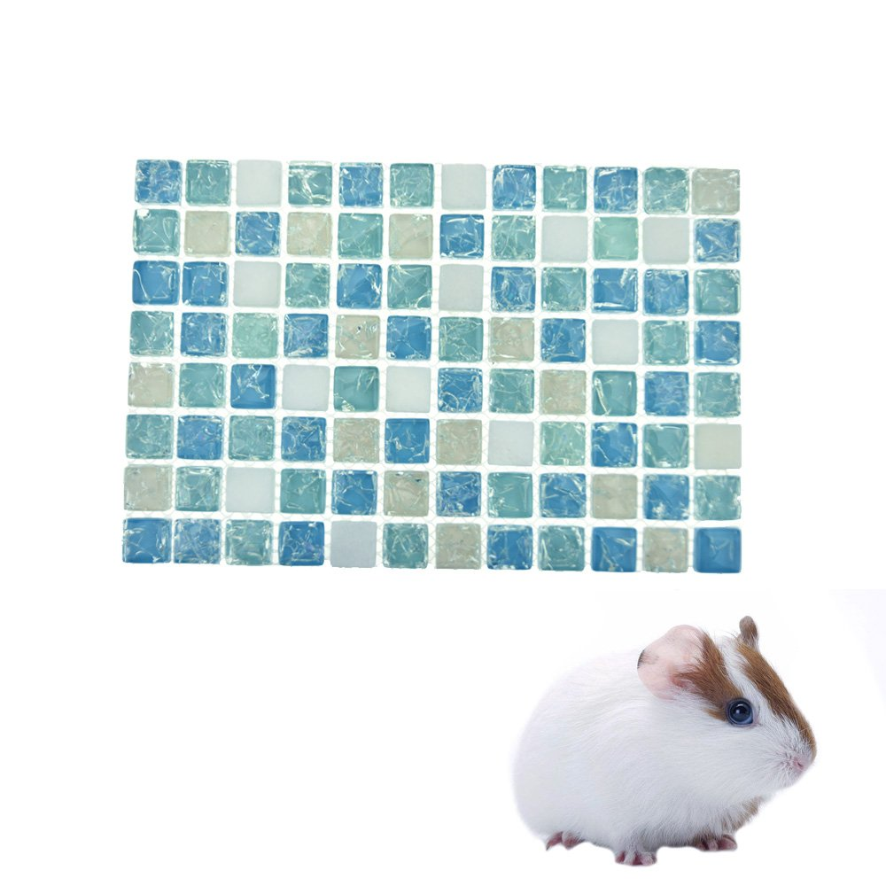 FLAdorepet Summer Hamster Bed Guinea Pig Cooling Stone Mat Pad Small Animal Rabbit Chinchilla Cool Bed House for Bunny Mini Dog Kitten