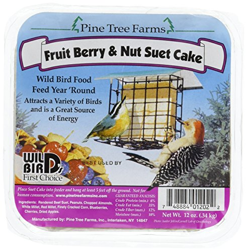 Pine Tree 1202 Fruit Berry and Nut Suet Cake, 12-Ounce]()