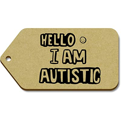 10 x Large 'Autistic Greeting' Wooden Gift / Luggage Tags (TG00056642)