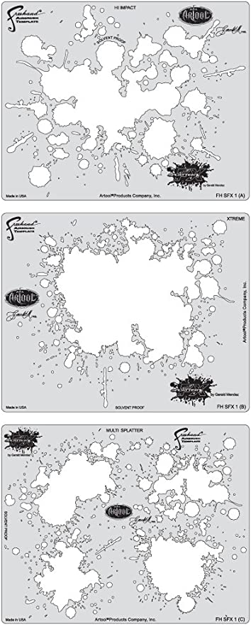 Bubble Template Set Artool Freehand Airbrush Templates