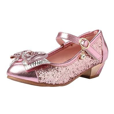 ca741600850476 YIBLBOX Prinzessin Schuhe Mädchen Ballerina Schuhe Kristall Schuhe Festlich  für Kinder