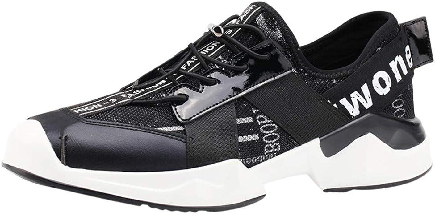 Kerula - Zapatos para Hombre, nuevos Hombres de Vuelo de Tejido Le Zapatillas de Running turísticas para el Tiempo Libre deportivesneakers Trabajo Ligeros y Elegantes Negro Size: 42 EU: Amazon.es: Zapatos y
