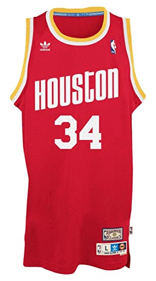 newest 8bb90 245a4 adidas Hakeem Olajuwon Houston Rockets NBA Throwback Swingman Jersey - Red