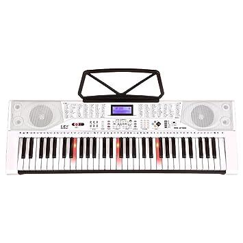Amazon.es: DUWEN Teclado Inteligente para Niños 61 Teclas para Piano Profesión para AdultosPrincipiantes Principiante (Color : Blanco)