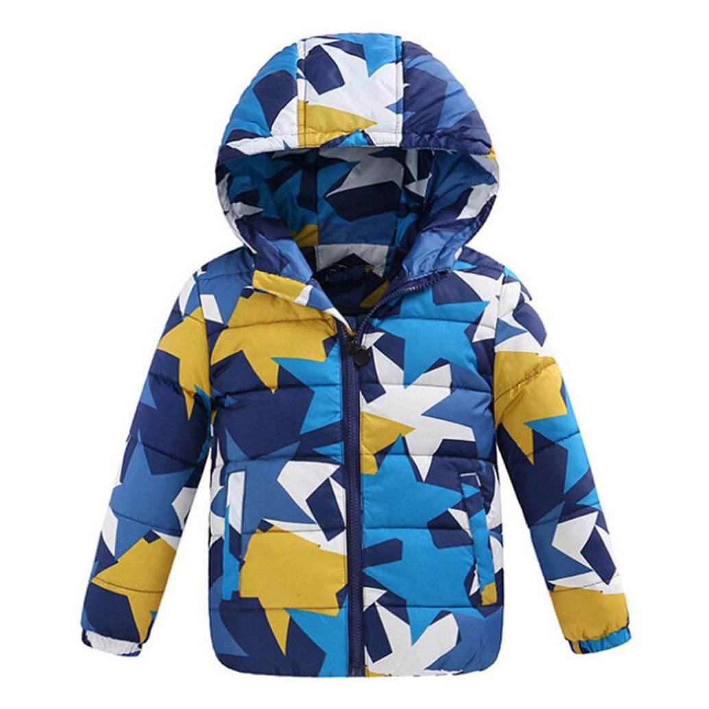 DaySeventh Children Boys Kid's Clothing Camouflage Down Outerwear Coats Light Blue) DS-AA201741