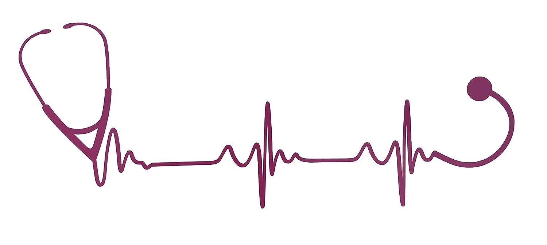 Custom Pulse Stethoscope Vinyl Decal - Heart Beat Nursing Bumper Sticker, for Tumblers, Laptops, Car Windows - Nurse EKG Rn CNA LPN Gift