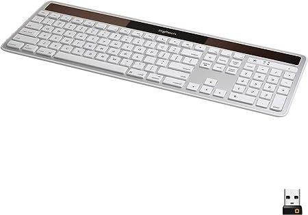 side facing logitech k750 wireless solar keyboard