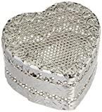 Amscan Elegant Wedding Heart Favour Box Party Supplies , Silver, 36 Pieces