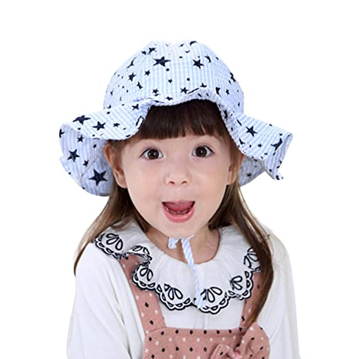 Baby Toddler Kids Breathable Sun Hat Brim Cotton Floppy Sun Hat for  Summertime Sun Protection 59266f44c61