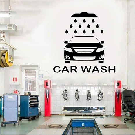 Servicio de lavado de coches Etiqueta de la pared Logotipo ...