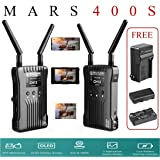 Hollyland Mars 400S Wireless SDI HDMI Video Transmission System, iOS & Android App Monitoring with OLED Display, 400ft 3 Scene Modes for External On-Camera Monitor