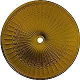 Ekena Millwork CM51GLIGS Galveston Ceiling Medallion, 51'' OD x 3 5/8 ID x 3 3/8 P, Iridescent Gold