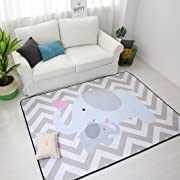 IHEARTYOU Elephant Mommy And Baby Thicken Extra Lagre Foam Kids Play Mat Baby Rug Soft Non-slip Baby Crawling Mat Playmats Kids Rug Baby Gym Mat, 0.8  Thick