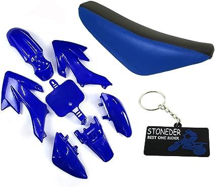 Blanc Broadroot Lot de 7 car/énages en plastique pour moto CRF 50 Dirt Pit Bike Bleu