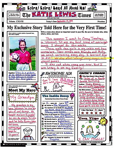 Scholastic Instant Personal Poster Sets, Extra Read All About Me, 17 x 22 Inches, 30/Pack (SHS0439152917) (The Best About Me)