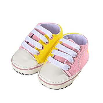 314d931b043a7 Amazon.com : Unetox Baby Shoes Canvas Toddler Sneakers Anti-Slip ...