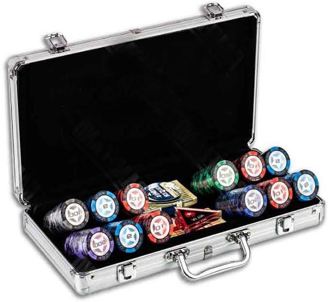 ポーカーチップセット キャリーケース入 カジノゲーム アルミケース チップ500枚