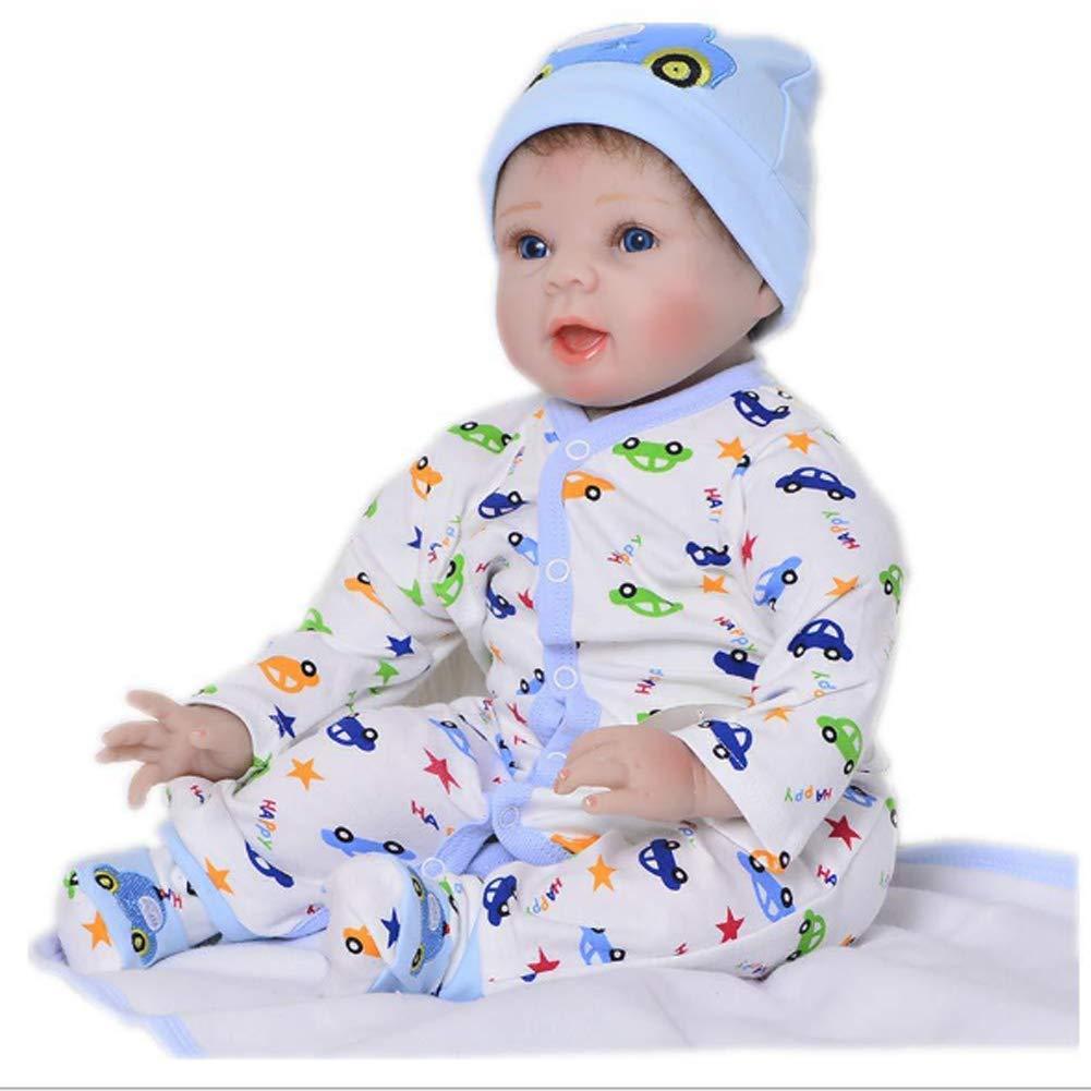 Candyana Reborn Doll 55cm Simulazione Baby blu Eyes Realistico Bambole Bel Ragazzo Regalo di Festa,55cm