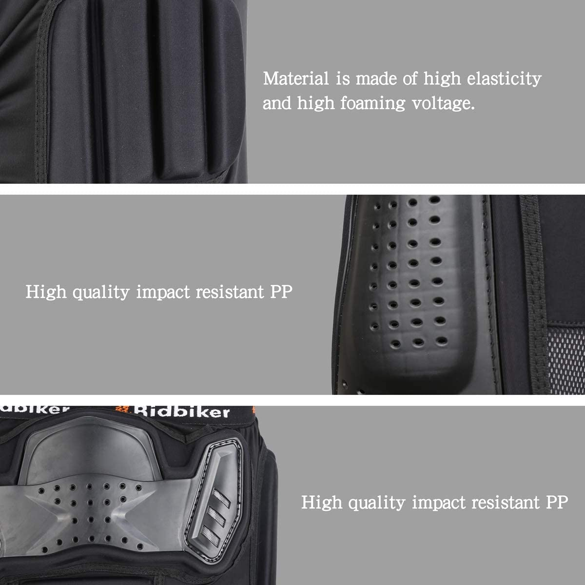 RIDBIKER 5.0 Armor Pants for Skating Snowboards Motorcycle Cycling,Adult Protective Armor Short Gasket Thickening 2CM,Black