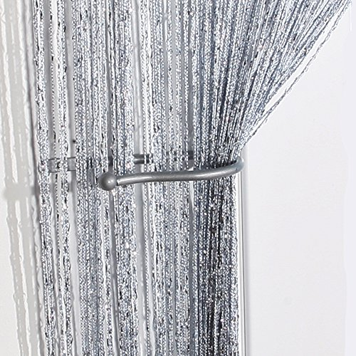 John Aird Jazz Glitter String Curtain Panel White Buy
