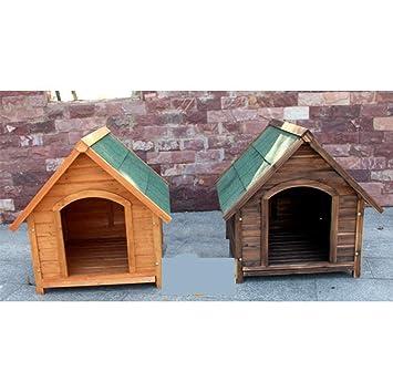 GYYL Casa anticorrosiva de Madera Casa de Perro de Madera carbonizada Casa de Mascotas Casa Canina Nido de Animales Cat Cat,Carbonized: Amazon.es: Deportes ...