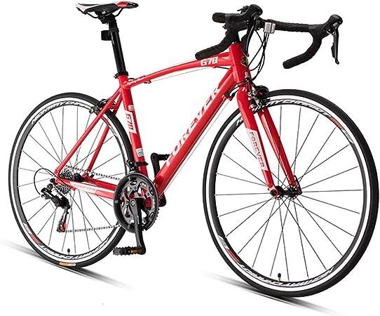 NENGGE 16 Velocidades Bicicleta de Carretera, Hombre Mujer Ultraligeros Biciclete, 700 * 25C Rueda, Bicicleta de Carreras con Freno Double V,Rojo,Standard: Amazon.es: Hogar
