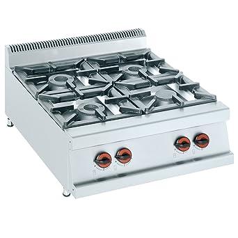 Macfrin H4S Cocina de Sobremesa a Gas 4 Fuegos 33.5 Kw