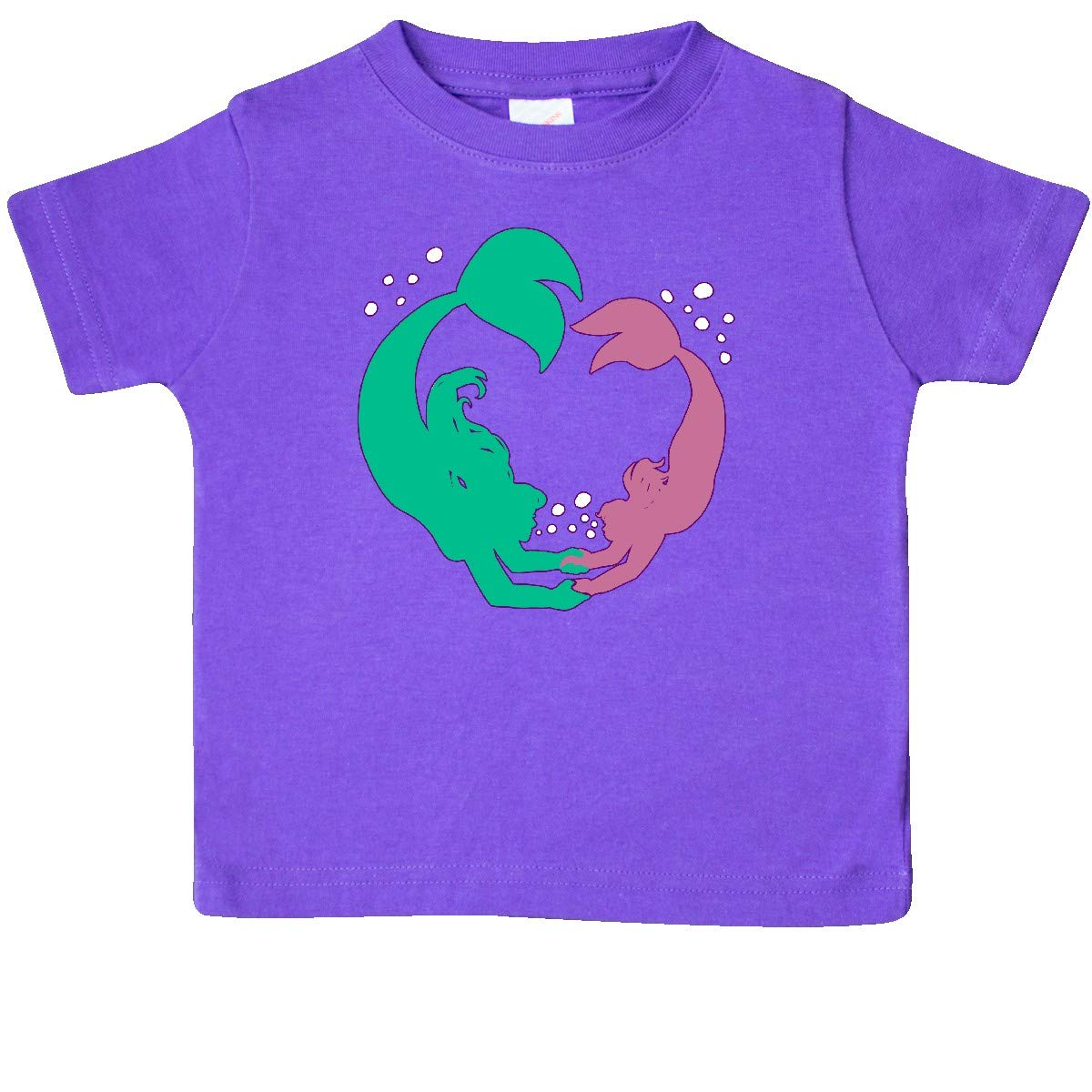 inktastic Teal and Pink Mermaid Dive-Swimming Mermaids Baby T-Shirt