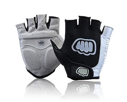 Dimart Black Nonslip Palm Hook Loop Driving Fingerless Sports Gloves Size XL for Man Biking Gloves