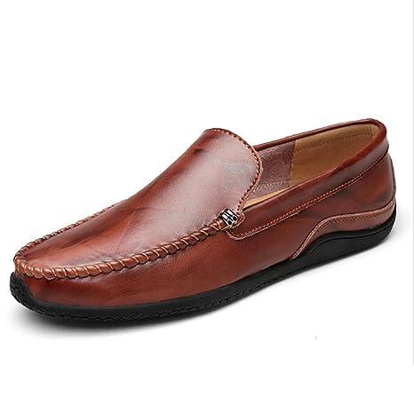 CAI Mocasines para Hombres Zapatos de Guisantes de Cuero Primavera/otoño / Invierno Mocasines y