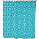 Uneekee Beware Of The Teeth Shower Curtain: Large Waterproof Luxurious Bathroom Design Woven Fabric