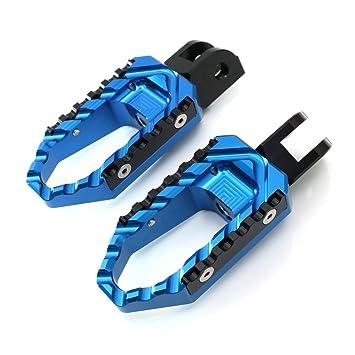 amazon com: blue cnc adjustable front touring foot pegs for ducati st2 2000:  automotive