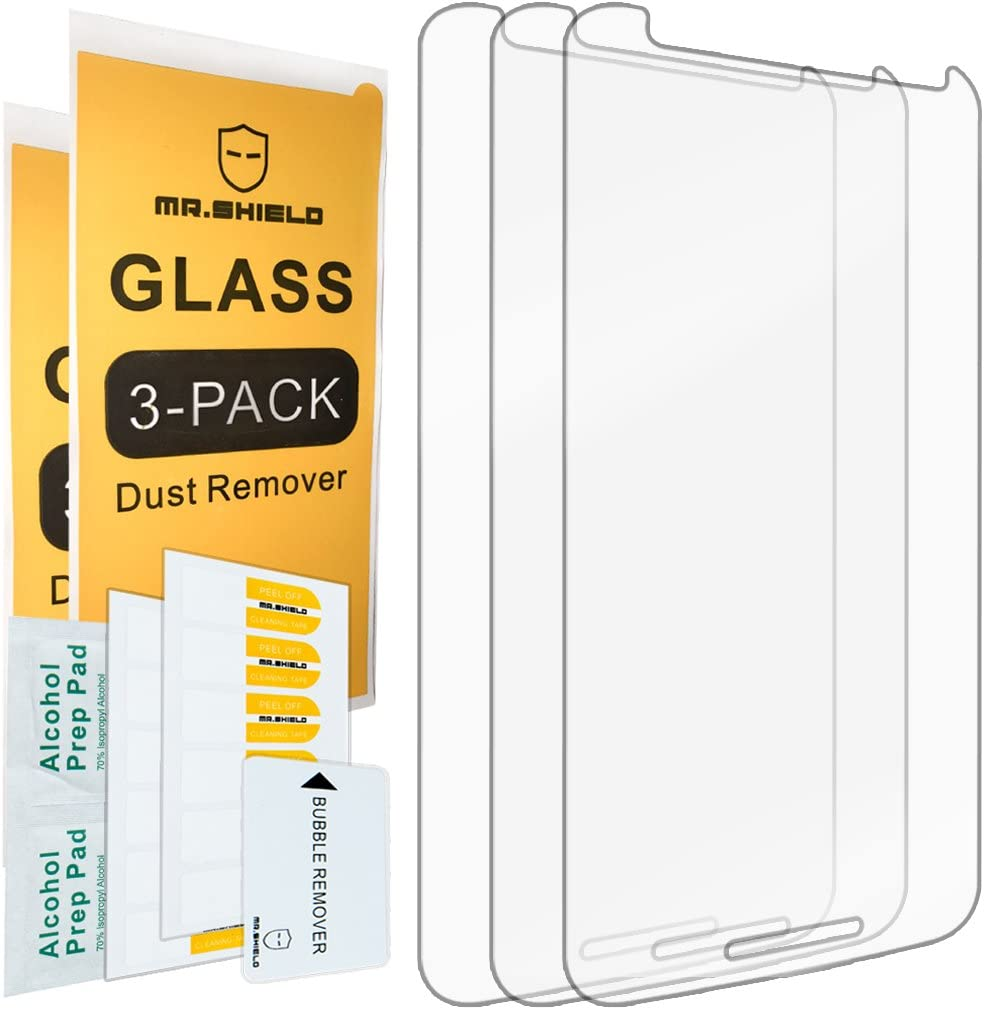 [3-PACK]-Mr.Shield For Moto X Style/Moto X Pure Edition [Tempered Glass] Screen Protector with Lifetime Replacement