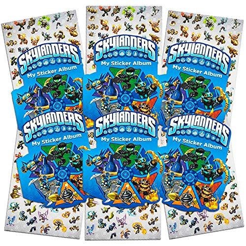 Skylanders Stickers Party Favor Pack ~ Set of 6 Skylanders Sticker Albums with Over 360 Stickers Total (Skylanders Party Supplies) -