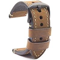 Cinturino Orologio Con Fibbia Pelle Crazy Horse Classico Vintage Ricambio Panerai Uomo Orologi