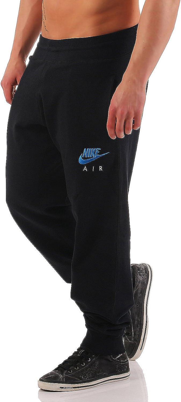 Nike Air - Pantalones de chándal para hombre - Bajo elástico - Forro polar negro/azul XL : Amazon.es: Ropa y accesorios