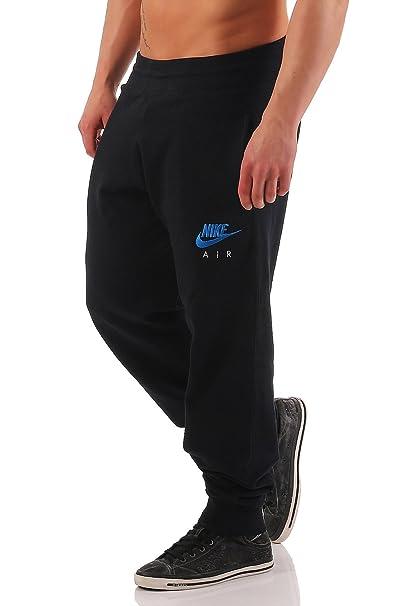 4fd6b43fca387 Nike Air - Pantalones de chándal para hombre - Bajo elástico - Forro polar  negro azul XL   Amazon.es  Ropa y accesorios