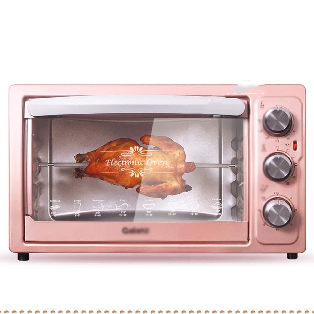 SGKJJ 卓上で使用するのに十分なオーブン - 1500W(ピンク)ミニオーブン電気グリル、タイマーラック付き高速加熱トースターオーブン - 小 - オーブントースター   B07PM7HTW6