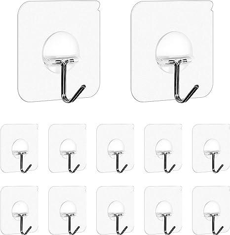 Details about  /Cartoon Traceless Hooks Self-adhesive Wall Hooks Heavy-duty Transparent W
