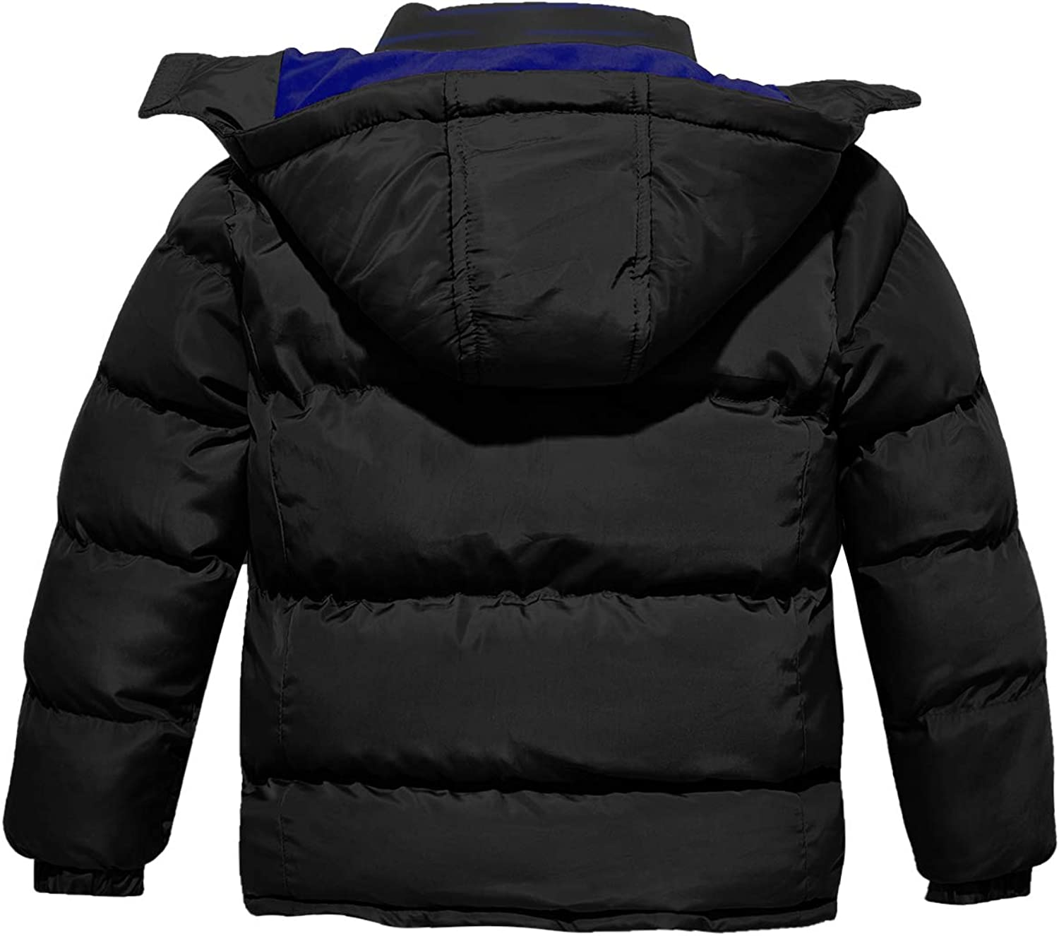 Wantdo Boys Quilted Padded Winter Coat Thick Warm Jacket with Removable Hood