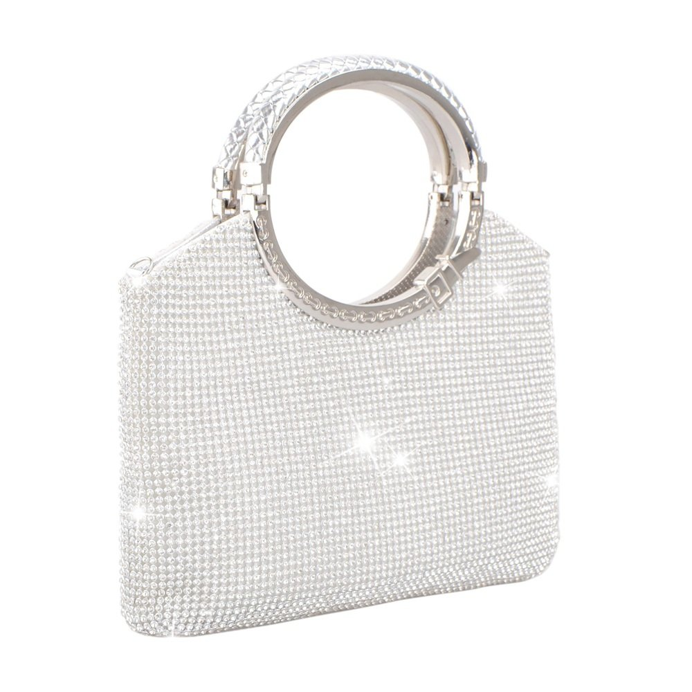 Clutch Evening Bag, Fit & Wit Giltter Beaded Flap Clutch Evening Handbag Purse (Style 1) by Fit&Wit