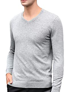 Winwinus Mens Stylish Crewneck Knitted Printed Cozy Pullovers Sweater