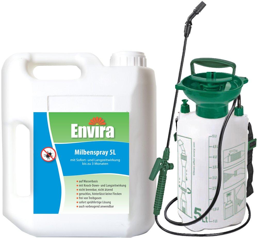 ENVIRA Milbenspray 5Ltr mit 5Ltr Drucksprüher